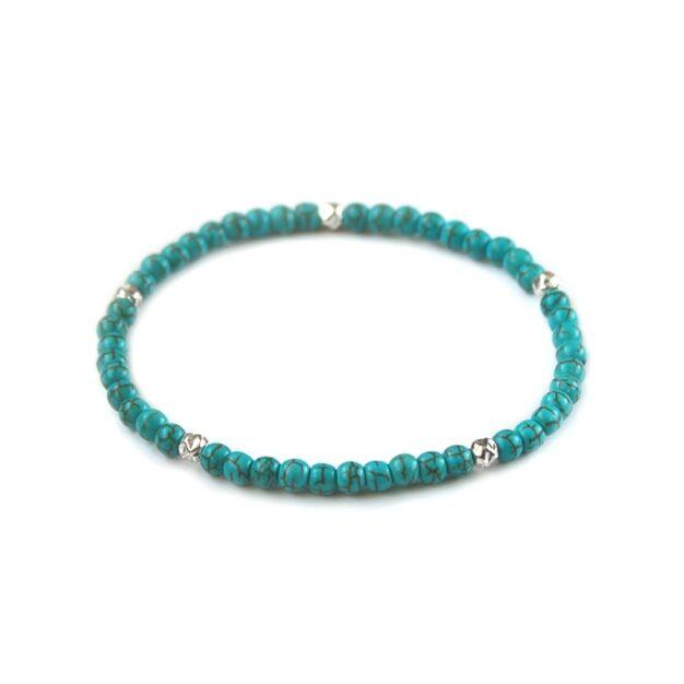 L.A. for men Turquoise Semi-Precious Gemstone Stretch Bracelet