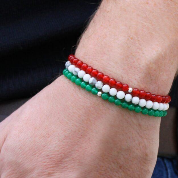 Roma for men - Set of 3 Beaded Bracelets