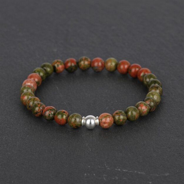 Adventure for Men - Unakite & Sterling Silver Bracelet