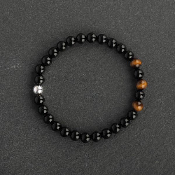 Adventure for Men - Tiger Eye, Black Onyx & Sterling Silver Bracelet