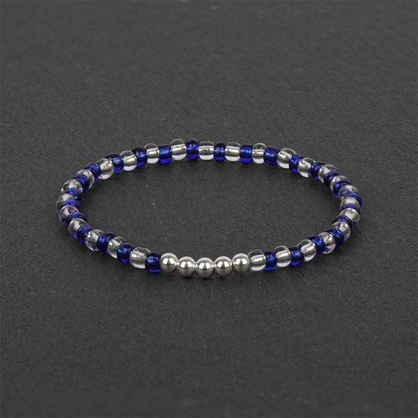 South for Men - Transparent Blue Beaded Bracelet
