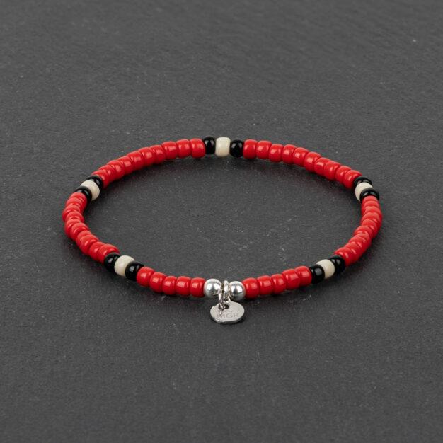 Megberry Signarture Red Snake Beaded Bracelet
