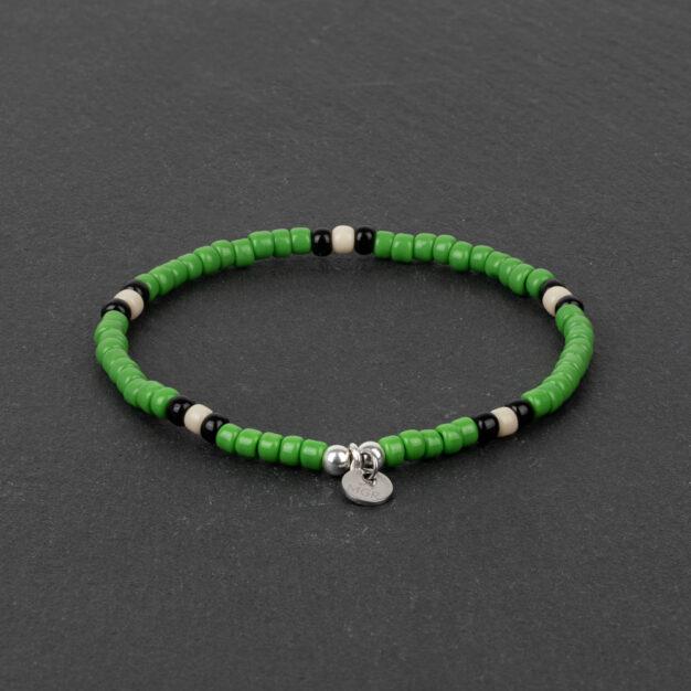 Megberry Signature for Men - Green Snake Handmade Beaded Bracelet