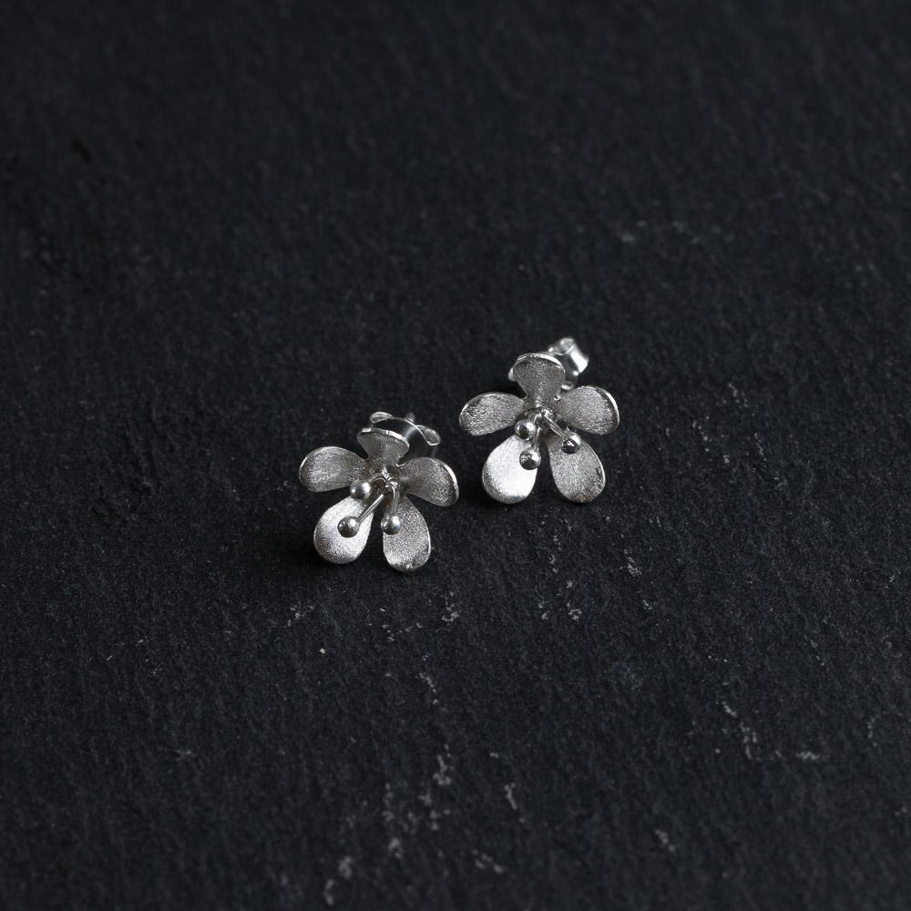 Megberry Freesia Sterling Silver Stud Earrings