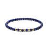 Megberry Essentials for Men Lapis Lazuli & Gold Beaded Bracelet