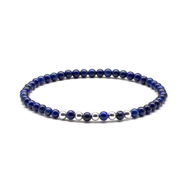 Megberry Essentials for Men Lapis Lazuli & Sterling Silver Beaded Bracelet