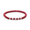 Megberry Essentials for Men Red Magnesite & Sterling Silver Beaded Bracelet